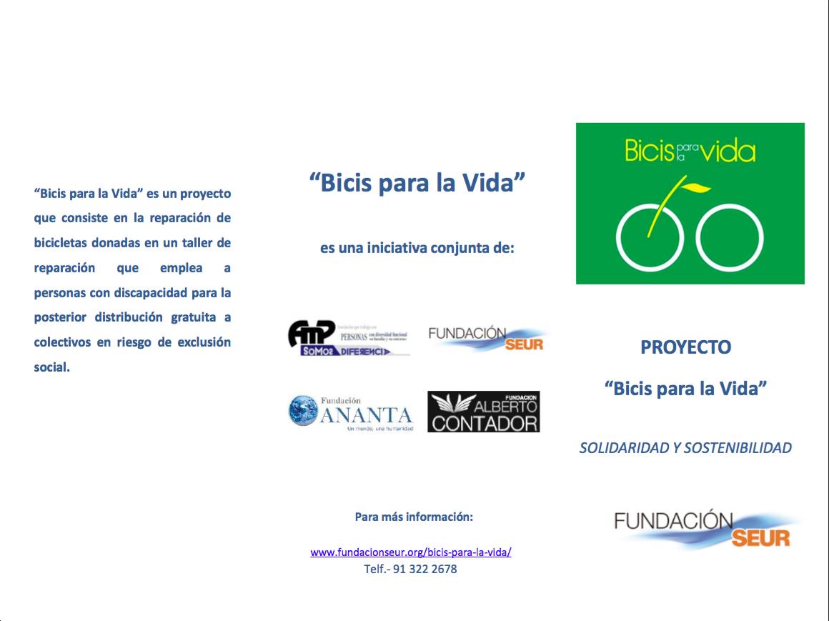 Fundaci n alberto contador bicis para la vida for Oficinas de seur en madrid
