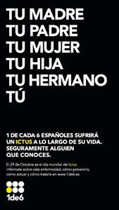 Campaña de divulgación del ictus con motivo del día mundial del Ictus 2012.